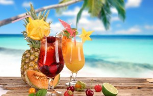 1920_Tropical Cocktails, Pineapple, Lime, Fruit